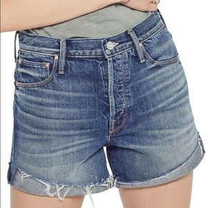 Mother Proper Distressed Short Sin and suffer wash